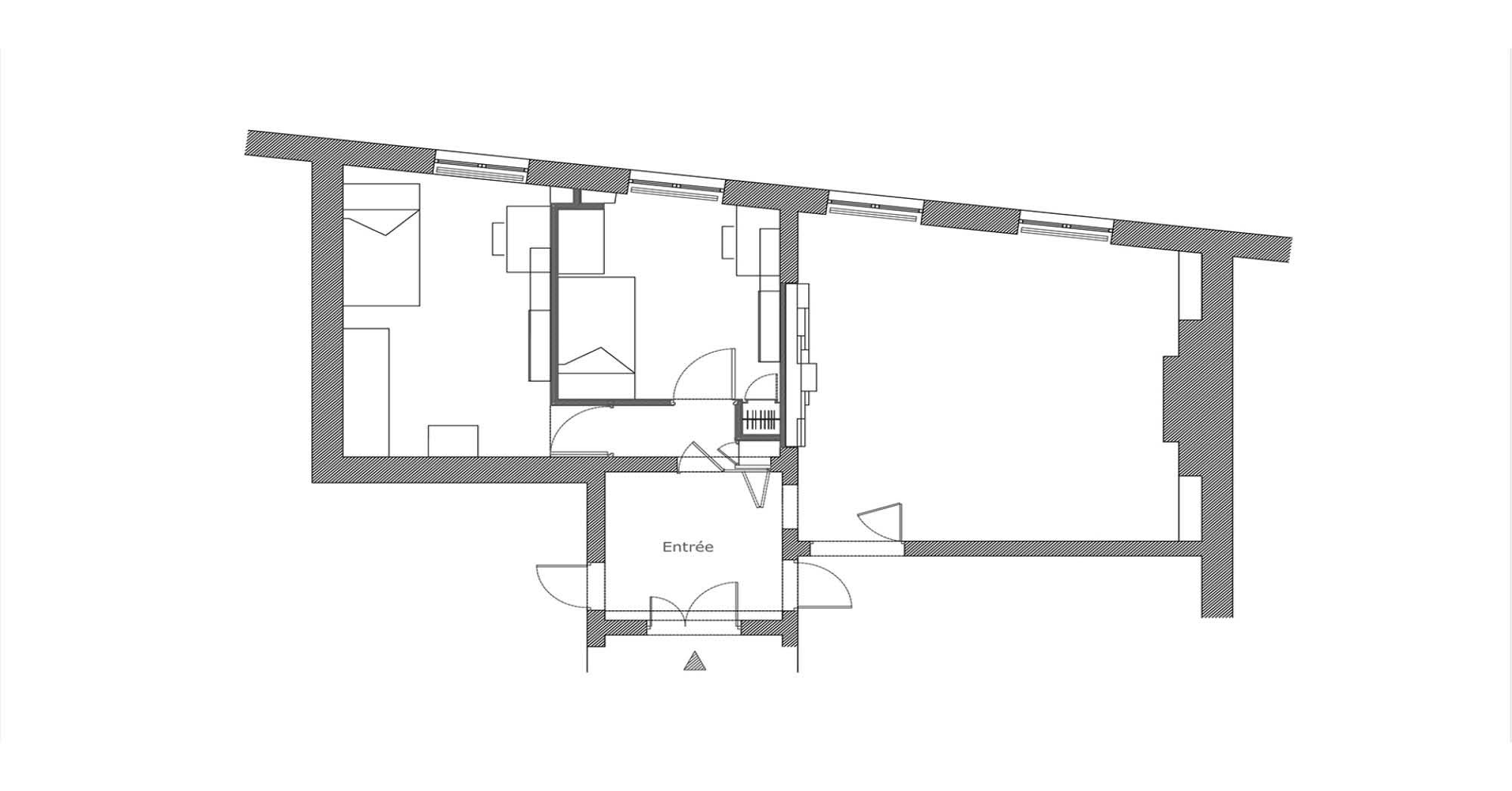 appartement biblioth que aba workshop. Black Bedroom Furniture Sets. Home Design Ideas